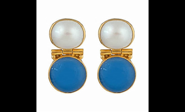 Julie Collection Positano chalcedony earring, $125 at Bishop Boutique (815-B King St., Alexandria; 571-312-0042)