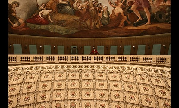 The photographer snapped this shot of the Interior Dome of the Capitol on a March tour of the building.