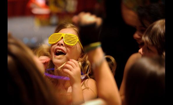 Big smiles and Kanye glasses at a local Bar Mitzvah.