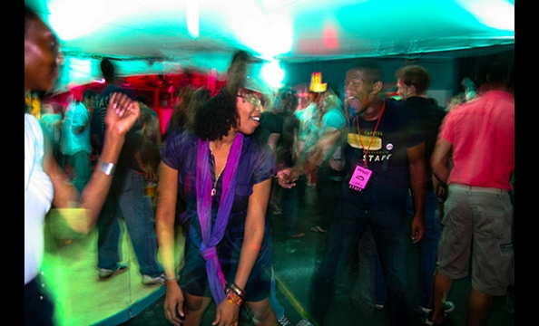 Volunteers boogie down in honor of Capital Fringe Festival, the city's biggest alternative theater showcase.