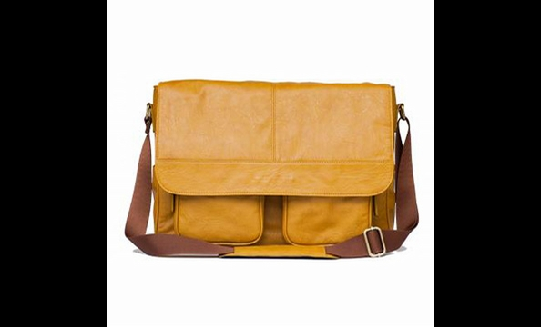 A handsome, sturdy camera bag for a handsome, sturdy father— and the mustard-yellow leather is a cool alternative to standard browns and blacks.  $199 at kellymoorebag.com