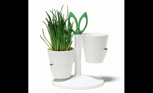 Help your eco-friendly host cook even more locally by bringing the herb garden directly to her kitchen table. There's even built-in scissor storage for on-the-spot trims! Normann Copenhagen Herb Stand, $63.