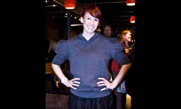 Lesley Benn in a Marc Jacobs sweater.