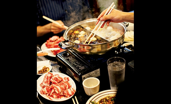 Uncle Liu's Hot Pot in Falls Church features the Chinese answer to fondue.