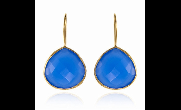 Margaret Elizabeth blue chalcedony earrings, $95 at Charm Georgetown (2910 M St., NW; 202-298-0420).