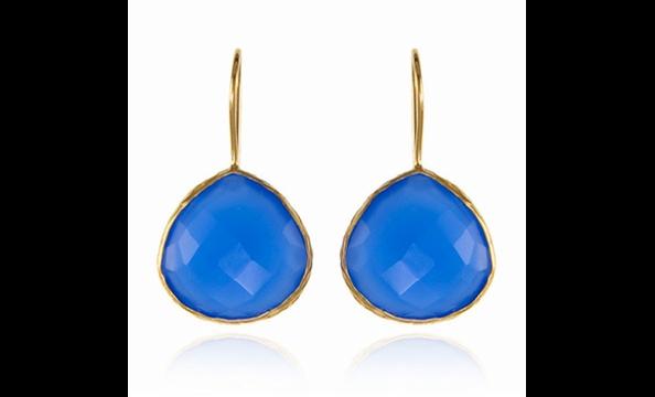 Margaret Elizabeth blue chalcedony earrings, $95 at Charm Georgetown (2910 M St., NW; 202-298-0420).