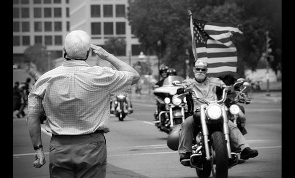 Arlington attorney Rena Schild captured respect across generations—and 34 percent of reader vote—with this picture taken during Rolling Thunder, an annual event on Memorial Day weekend that raises awareness of POW/MIA issues.  Though most Rolling Thunder