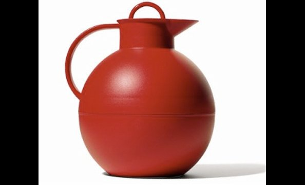 From breakups to big promotions, he's always there to talk.  Help him keep the coffee warm with a cheery red carafe. Oleg Palsby modern classic Thermal Carafe, $36.