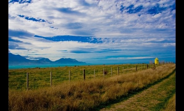 The photographer traveled to the town of Kaikoura on the southern island of New Zealand. She snapped this photo during a day trip to see nearby bluffs.