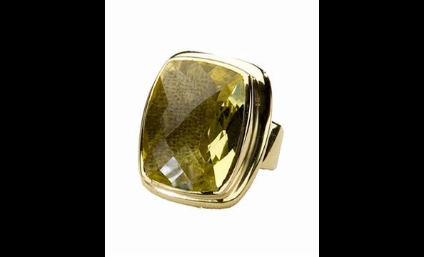 Julie Collection Shivan lemon topaz ring, $165 at Bishop Boutique (815-B King St., Alexandria; 571-312-0042)