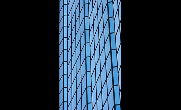 "This photo is a slice of an office building located in Gaithersburg, Maryland's ""Rio at Washingtonian Center""."