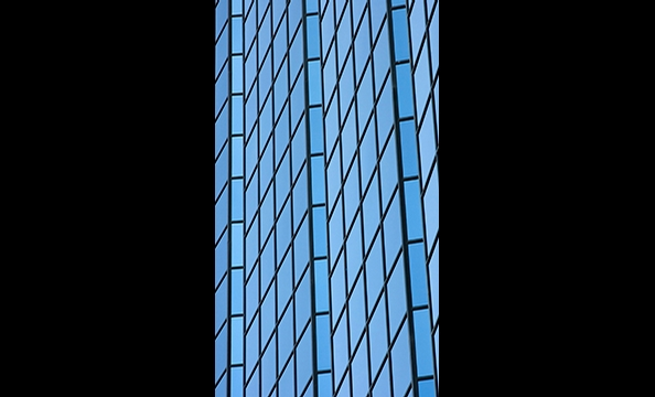 """This photo is a slice of an office building located in Gaithersburg, Maryland's """"Rio at Washingtonian Center""""."""