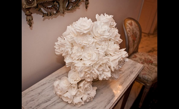 These incredibly intricate blooms were created during weekly Saturday flower-making sessions.