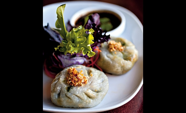 Sabai Sabai Simply Thai does right by vegetarians with excellent chive dumplings.