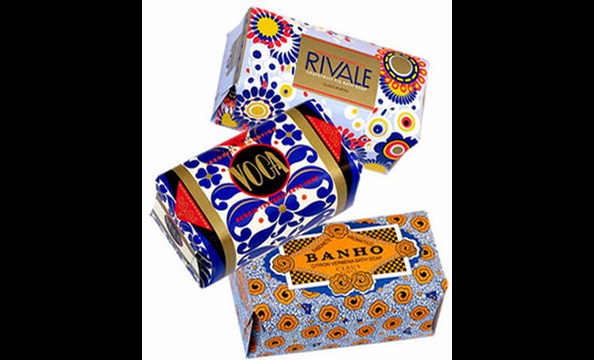 With scents like grapefruit fig and mimosa and graphic Art Deco packaging, these soap bars smell great and are colorful enough to go without wrapping.  Claus Porto soap bars at Valerianne (111 Church St., Vienna; 703-242-1790), $20 each.