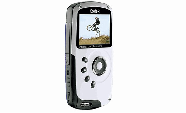 He won't miss a moment of action with the Kodak Playsport—a rugged, waterproof pocket camcorder. Kodak.com and other retailers, $149.95.