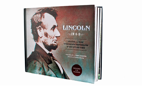 """History jumps off the page in """"Lincoln in 3-D,"""" a book filled with rare stereoscopic photos that you view with the accompanying 3-D glasses. Amazon, $23.10."""