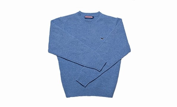 Get 15 percent off Vineyard Vines preppy classics such as this crewneck whale sweater. VineyardVines.com, $115. (This offer excludes certain merchandise, such as collegiate and NFL- and MLB-licensed goods, and can't be used with another offer).
