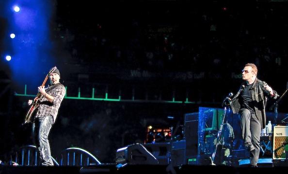U2 on stage.