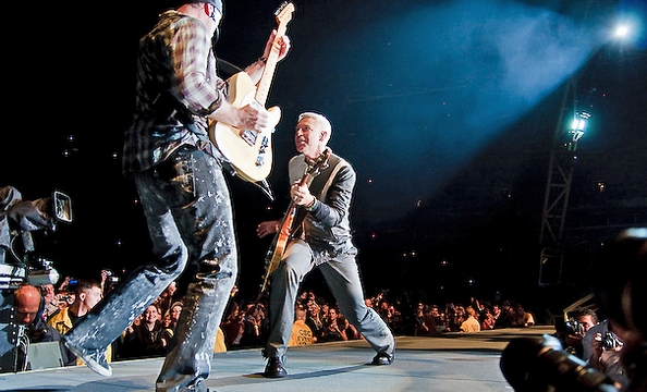 """U2 on their stage, dubbed """"The Claw."""""""