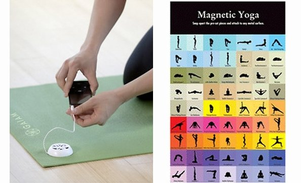 Yoga's a great workout, but classes at a studio can add up fast. The MP3-player-compatible Audio Yoga Mat (Gaiam.com, $39.98) can help you practice on your own—just download a yoga tutorial and load it onto your iPod. The mat plays the audio through a bui