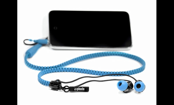 Earbuds for most MP3 players tend to get tangled about 15 seconds after you remove them from their packaging. This ingenious product uses a zipper to keep the cords from getting jumbled up. When you're ready to use them, all just unzip the cords. Zipbuds,