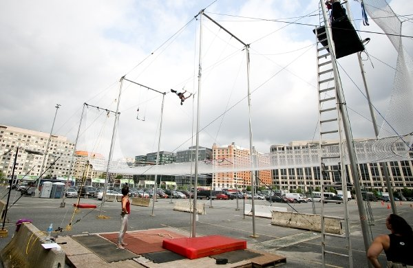 It's a Bird! It's a Plane! It's . . . Washingtonians on Trapeze!