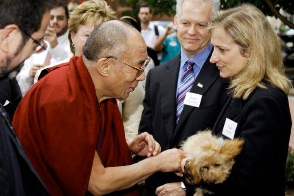No, You Can't Kiss the Dalai Lama