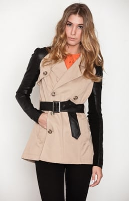 Look tough (but still tailored) in a contrast-sleeve trench.