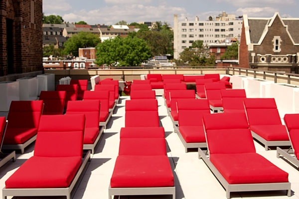 A separate sun deck provides more space for tanning and relaxing.