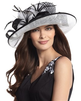 Make a statement in this ornate patterned chapeau.