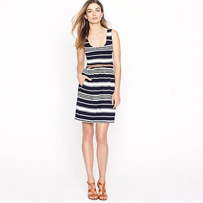 A preppy striped dress just begging for an oversize straw hat and a big pair of sunglasses.