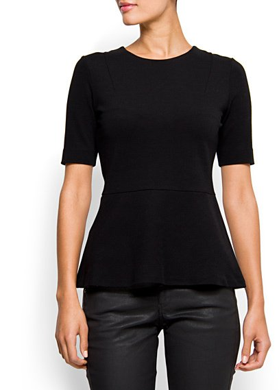 A classic black peplum should be a new staple in your wardrobe.