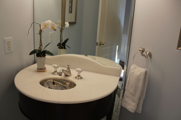 Beyond Paint: A Transformed Powder Room in McLean