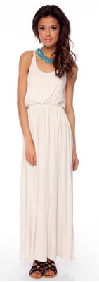 For a more relaxed look that's still totally on trend, opt for a cotton maxi dress.