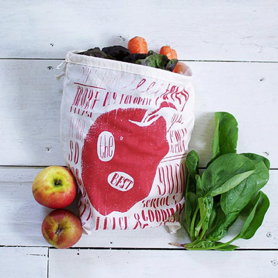 A cute way to separate produce.