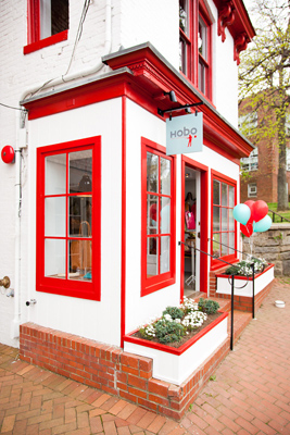 The Hobo boutique is located in a three-story town house just off of downtown Annapolis's Main Street.