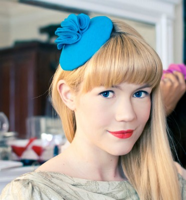 Channel your inner Princess Kate with a bright fascinator from a local designer.