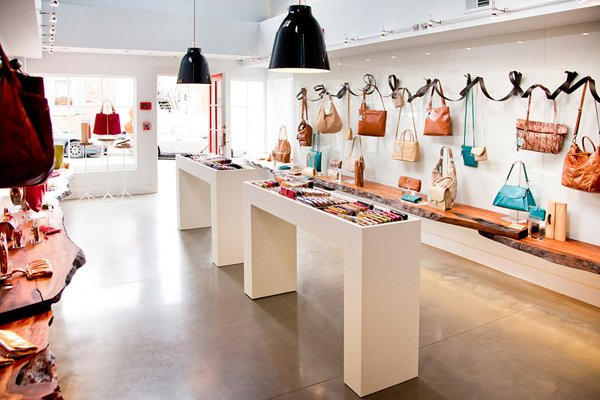 The first floor of the shop is roomy and inviting.