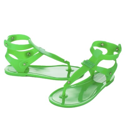 Not your elementary school jelly sandal.