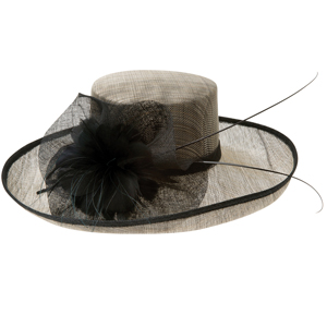 This neutral, Breton-style hat would work with a wide range of dresses.