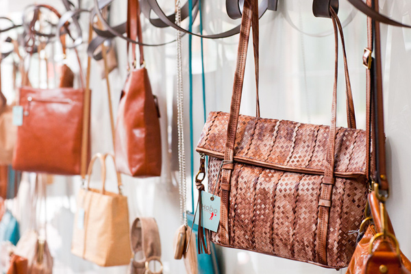 One of our fave designs, Hobo's Tangle bag ($298) is made from tie-dyed woven leather.