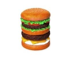 A Burger A Day In May Beefed Up Decor Washingtonian - Hamburger-scatter-cushions