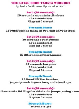 The 15 Minute Fat Burning Tabata Workout Part 58