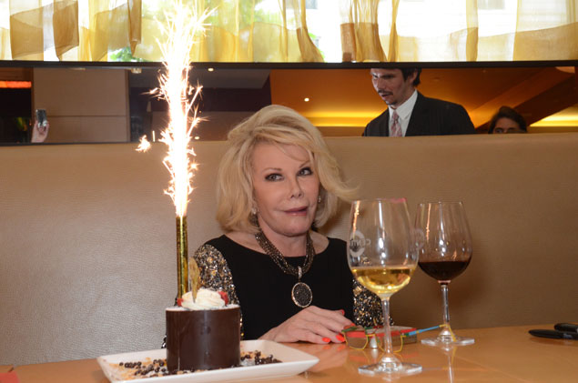Joan Rivers Rolls Into and Out of Town (Pictures)