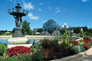 The US Botanic Garden Features Two Outdoor Gardens And A 30,000 Square Foot  Conservatory. Photograph Courtesy Of United States Botanic Garden.