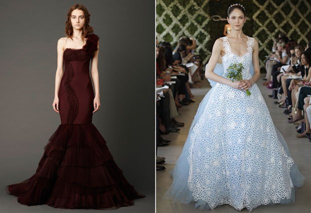 Bridal Fashion Trend Report: Colorful Wedding Gowns