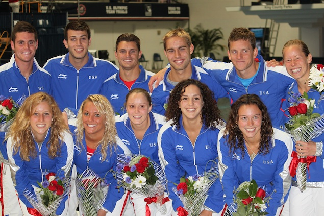 The US Olympic Diving Team Visits Walter Reed