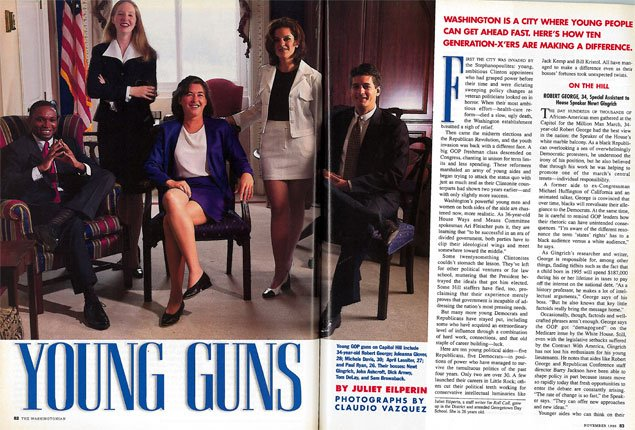 """From the Archives: A 26-Year-Old Paul Ryan Featured in The Washingtonian's """"Young Guns"""" List"""