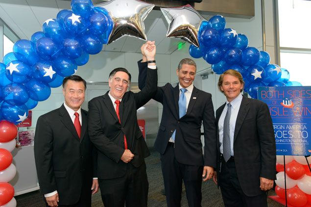 Update: Reagan National Welcomes New Nonstop Service to San Francisco (Photos)